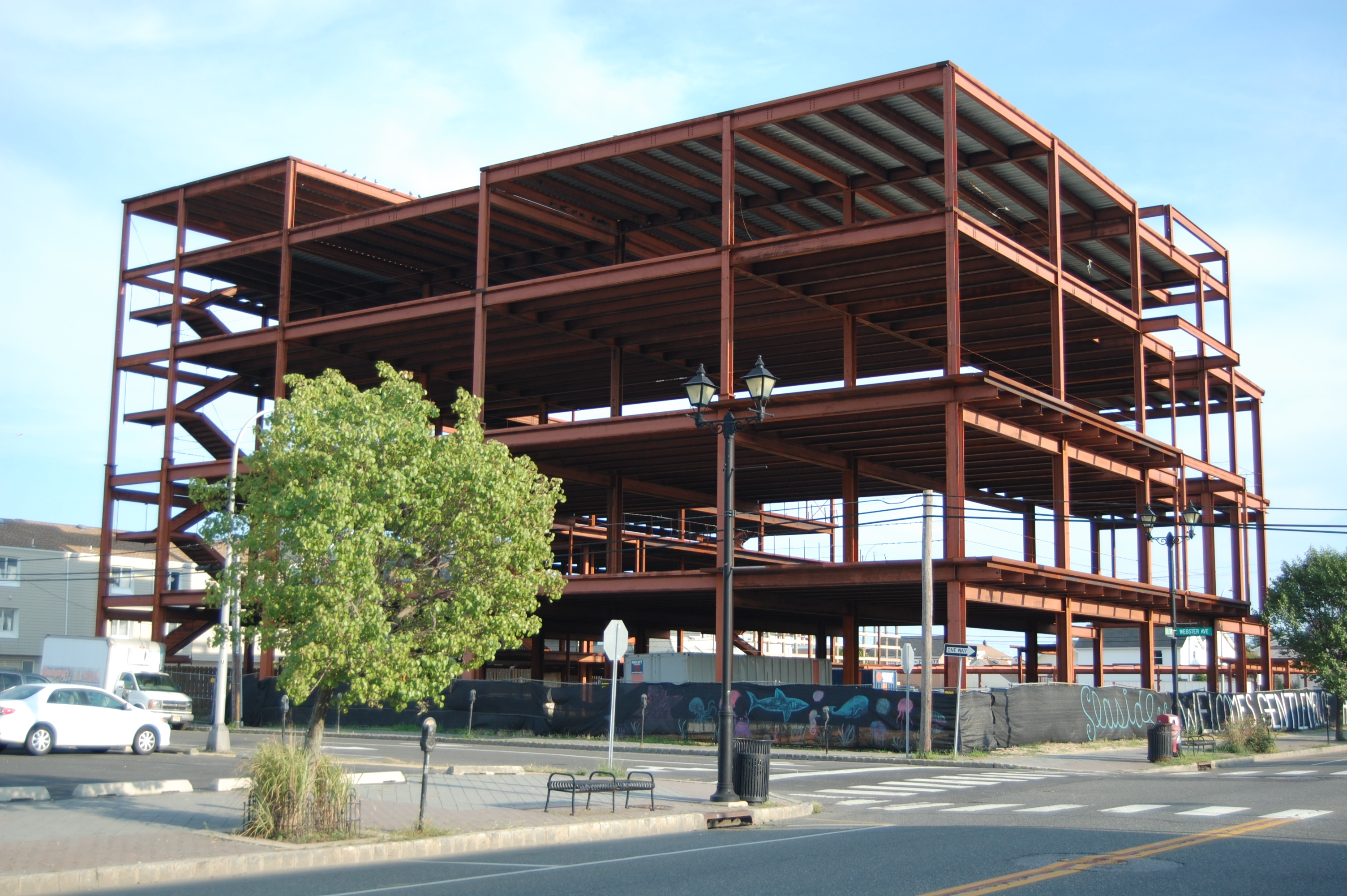 A planned nightlife and banquet hub in Seaside Heights, which has been sitting idle for years. (Photo: Daniel Nee)