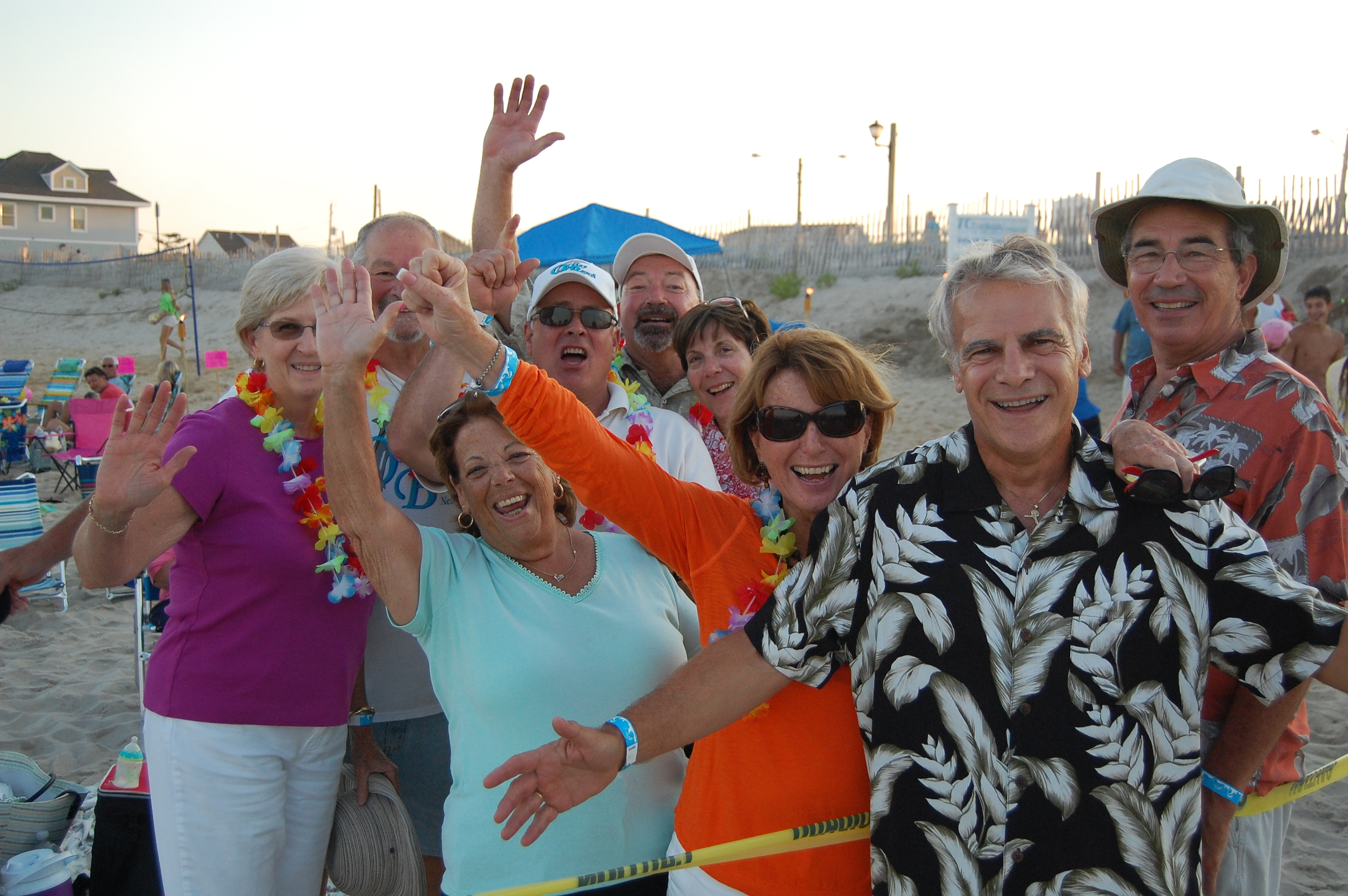 """Friends from Ortley Beach gathered Saturday for the first """"Beach Jam"""" event Saturday. (Photo: Daniel Nee)"""