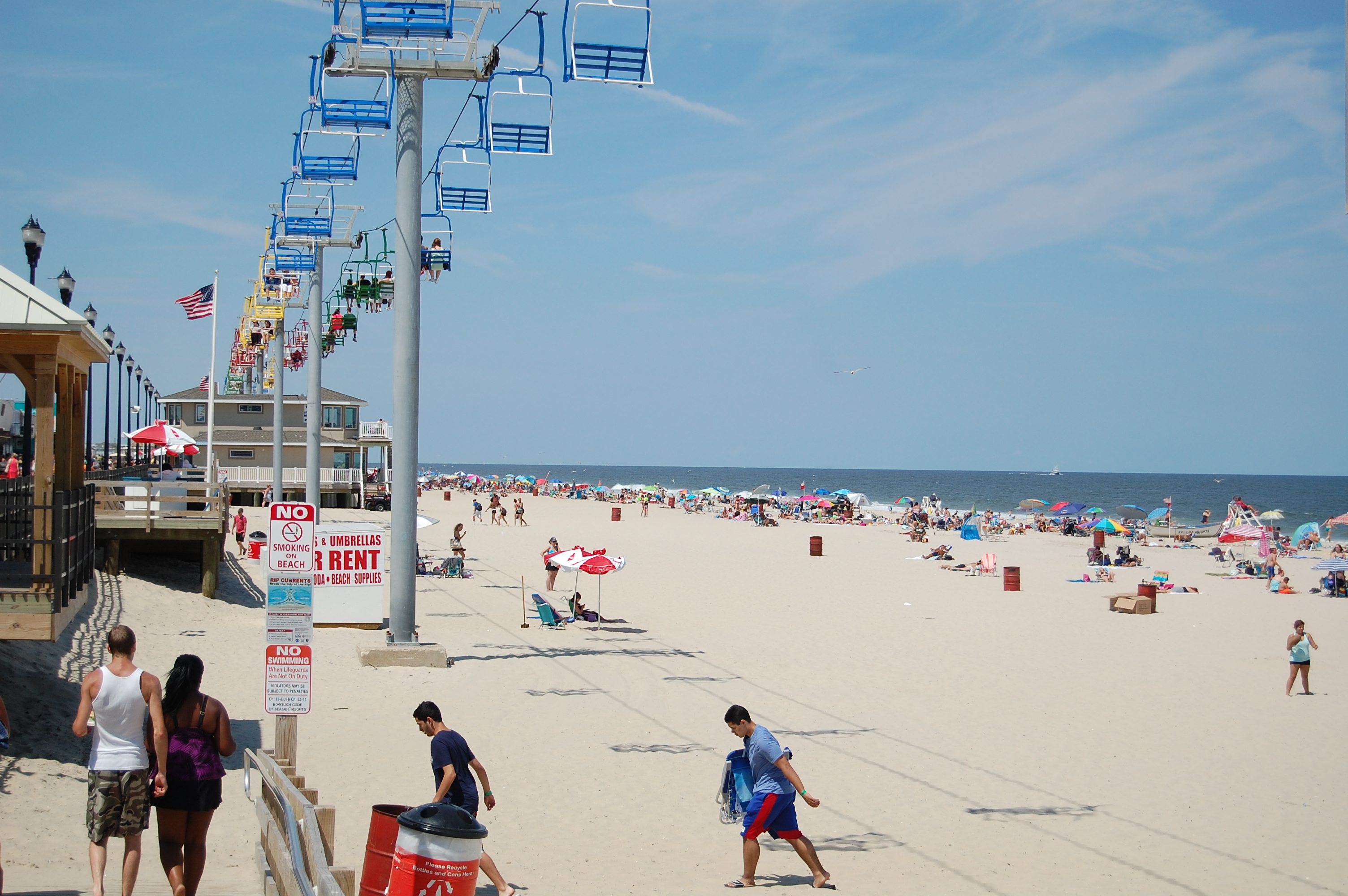 The Seaside Heights beachfront, north of Casino Pier. (Photo: Daniel Nee)