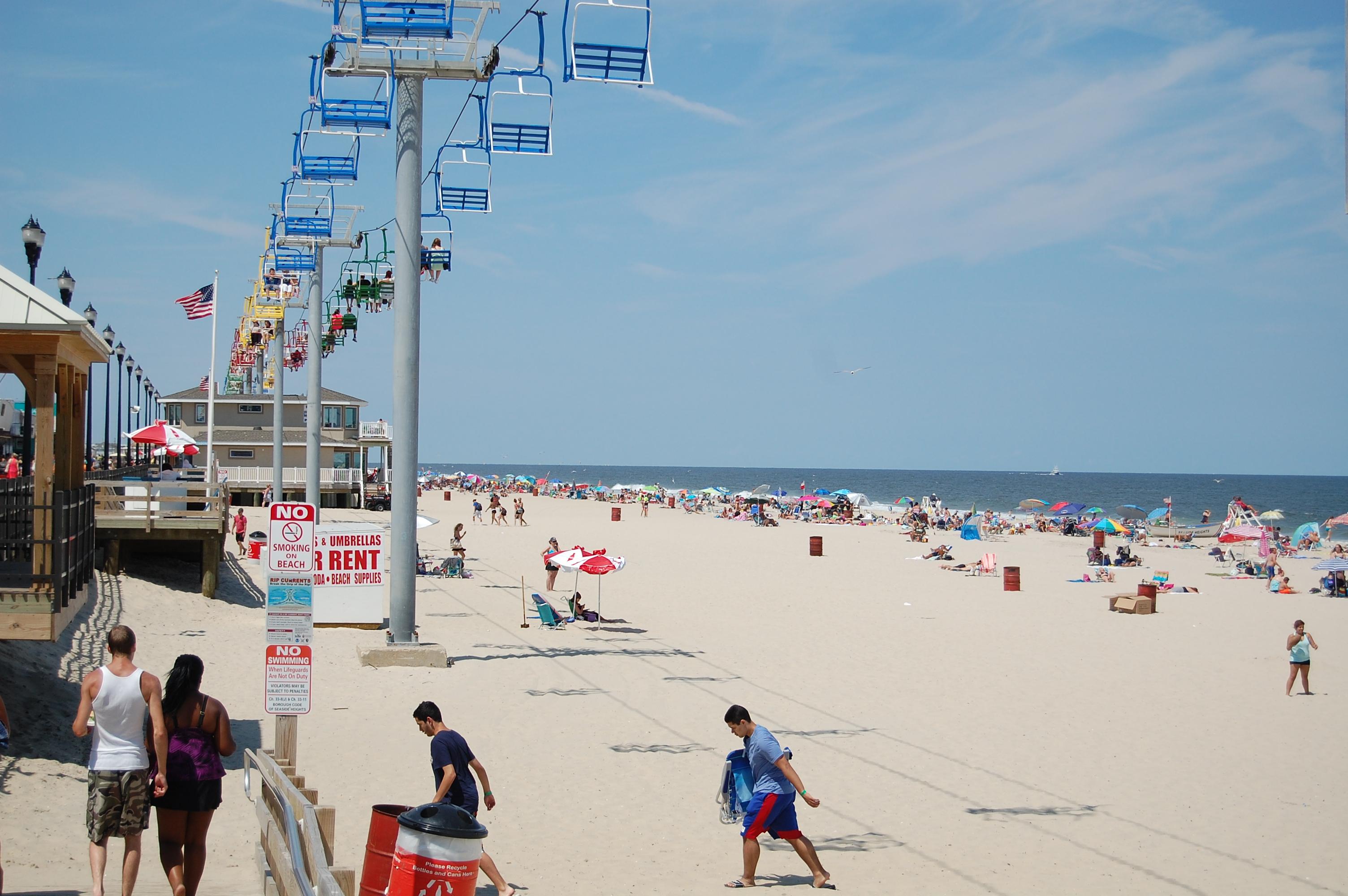 The Seaside Heights beachfront, north of Casino Pier. (Photo: Daniel Nee)