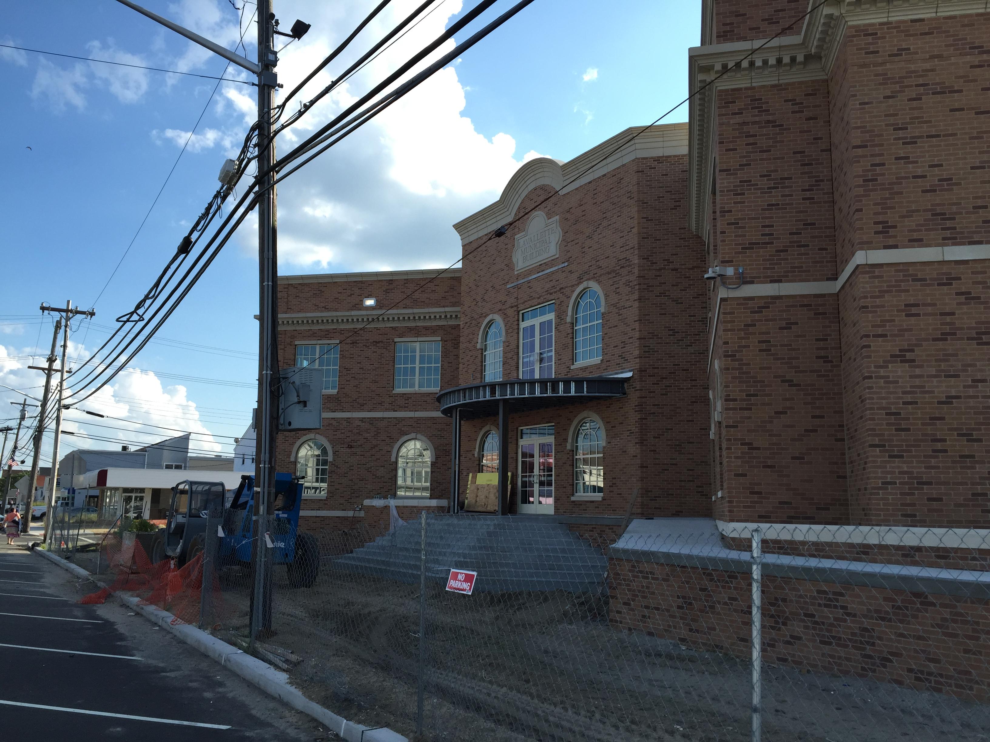 Lavallette's new municipal building under construction. (Photo: Daniel Nee)
