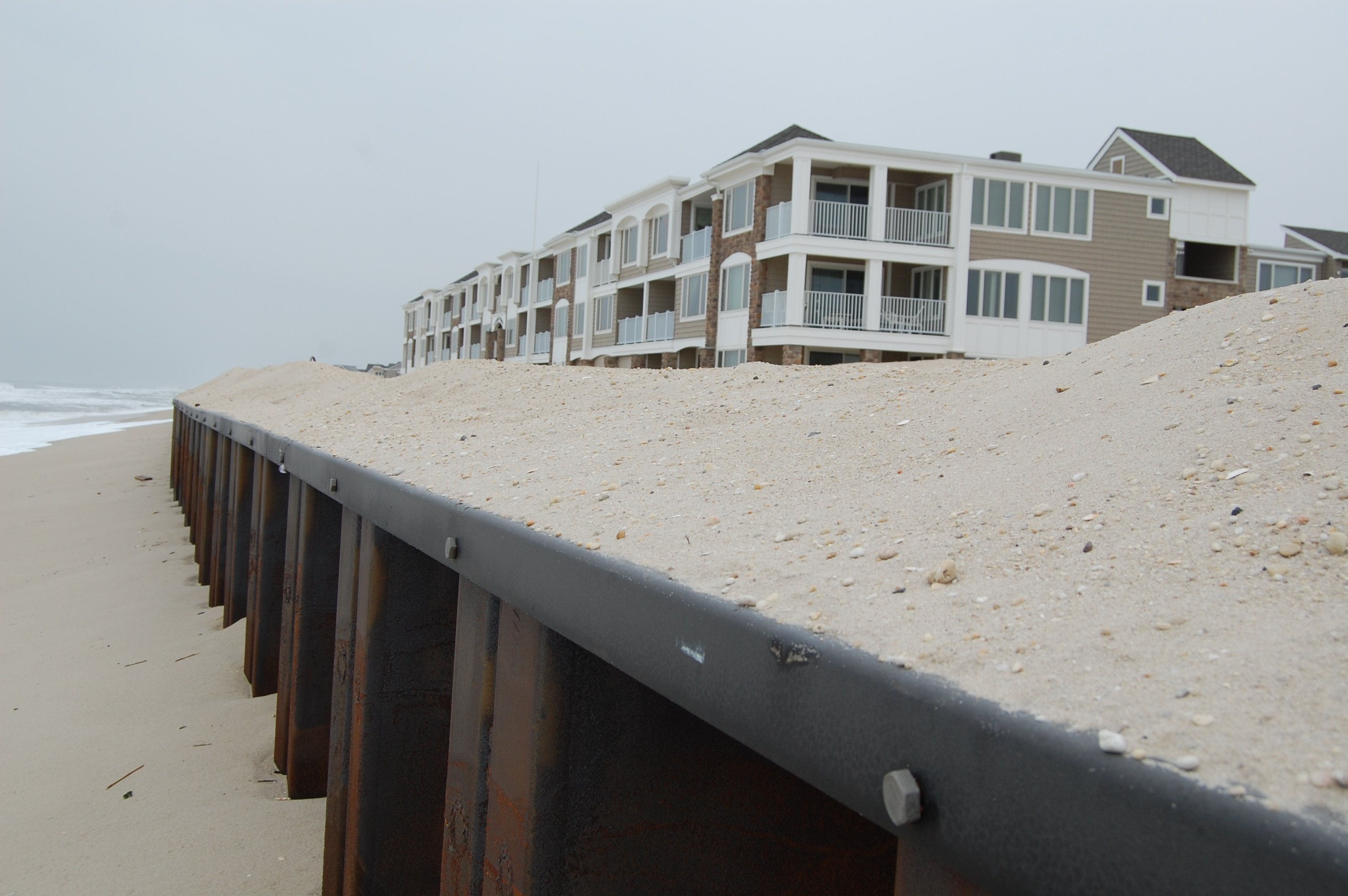 A sea wall installed in Brick Township, N.J. (Photo: Daniel Nee)