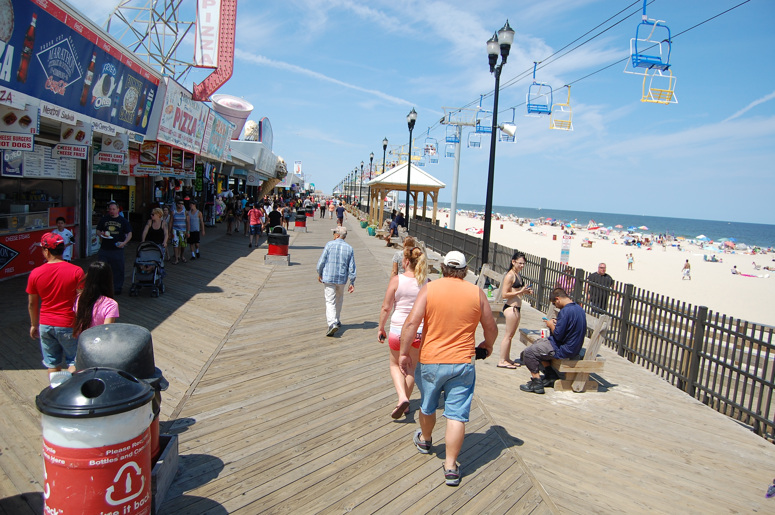 The Seaside Heights Beach And Boardwalk Photo Daniel Nee
