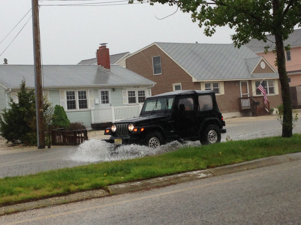 Coastal flooding in Ocean County, N.J. (Photo: Daniel Nee)