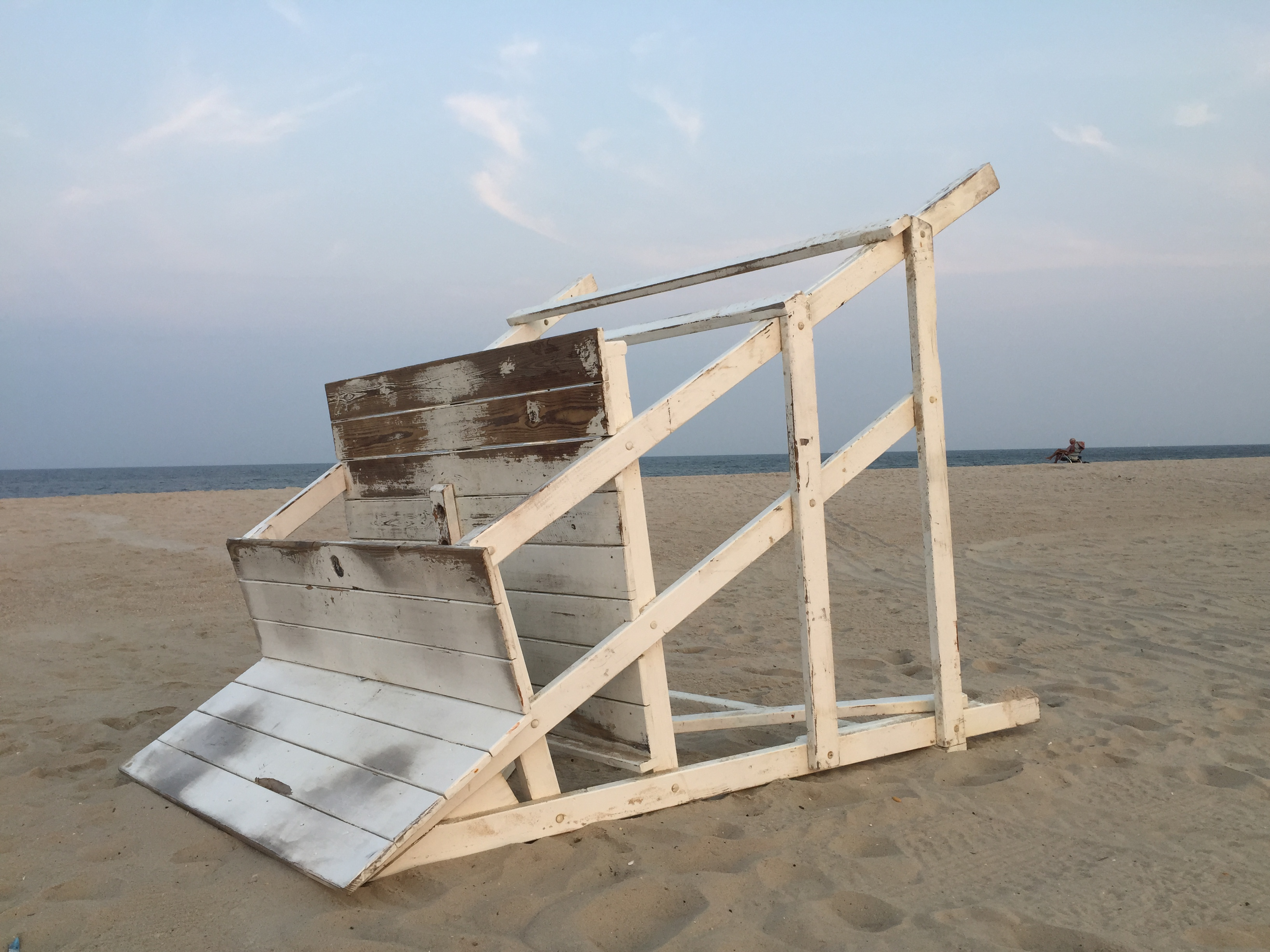 A lifeguard stand after hours in Seaside Heights, N.J. (Photo: Daniel Nee)
