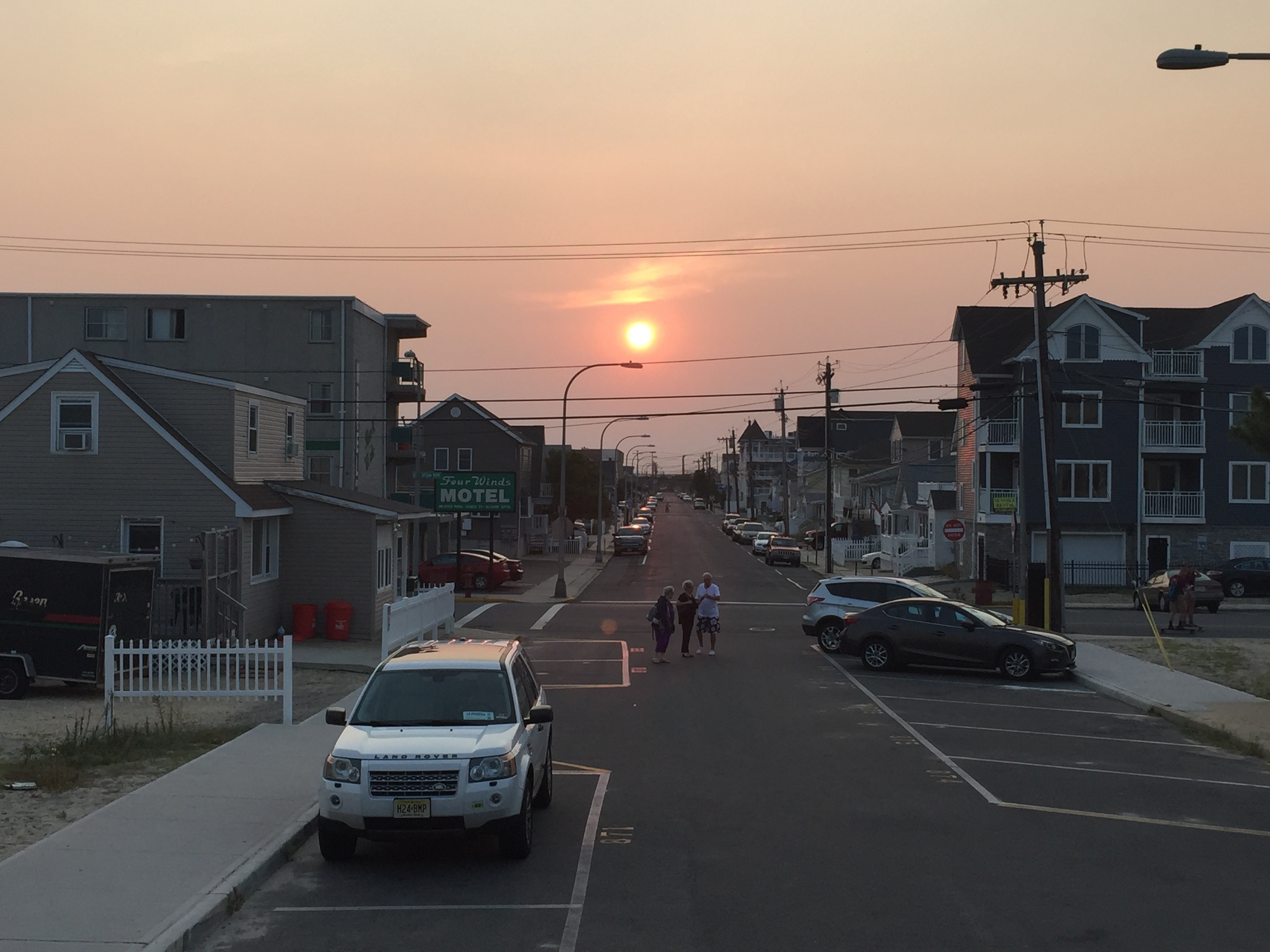 A westward-looking view of Seaside Heights. (Photo: Daniel Nee)