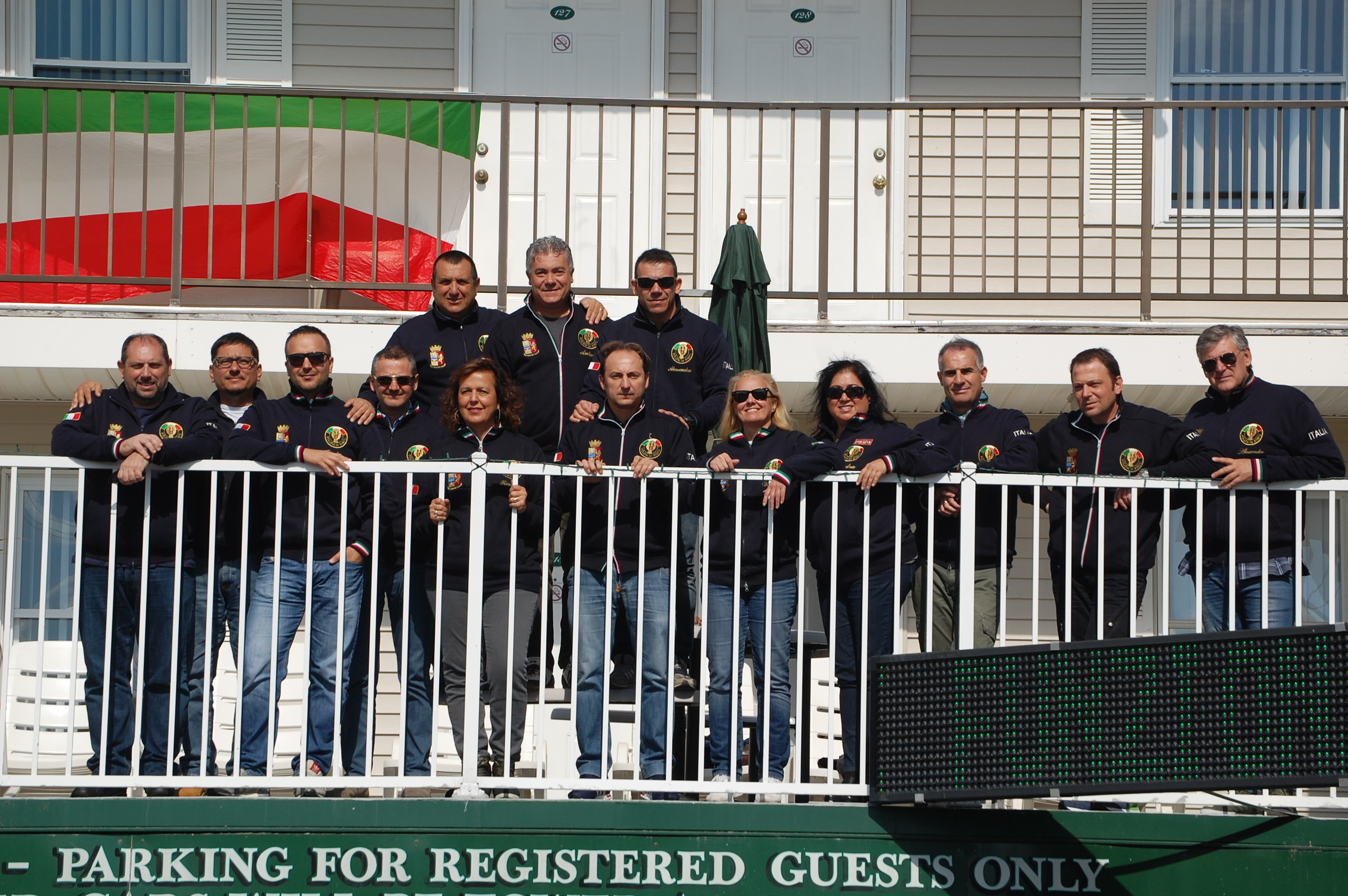 Members of the Polizia di Stato in Seaside Heights, Oct. 15, 2015. (Photo: Daniel Nee)