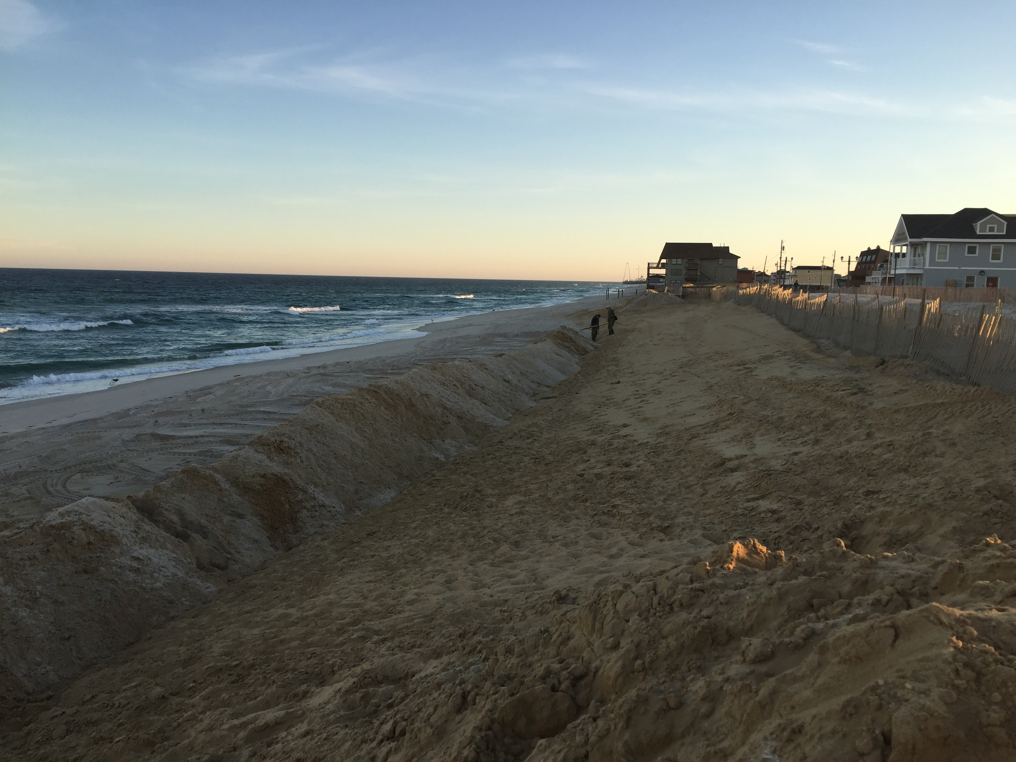 Ortley Beach's battered oceanfront, Oct. 21, 2015. (Photo: Daniel Nee)