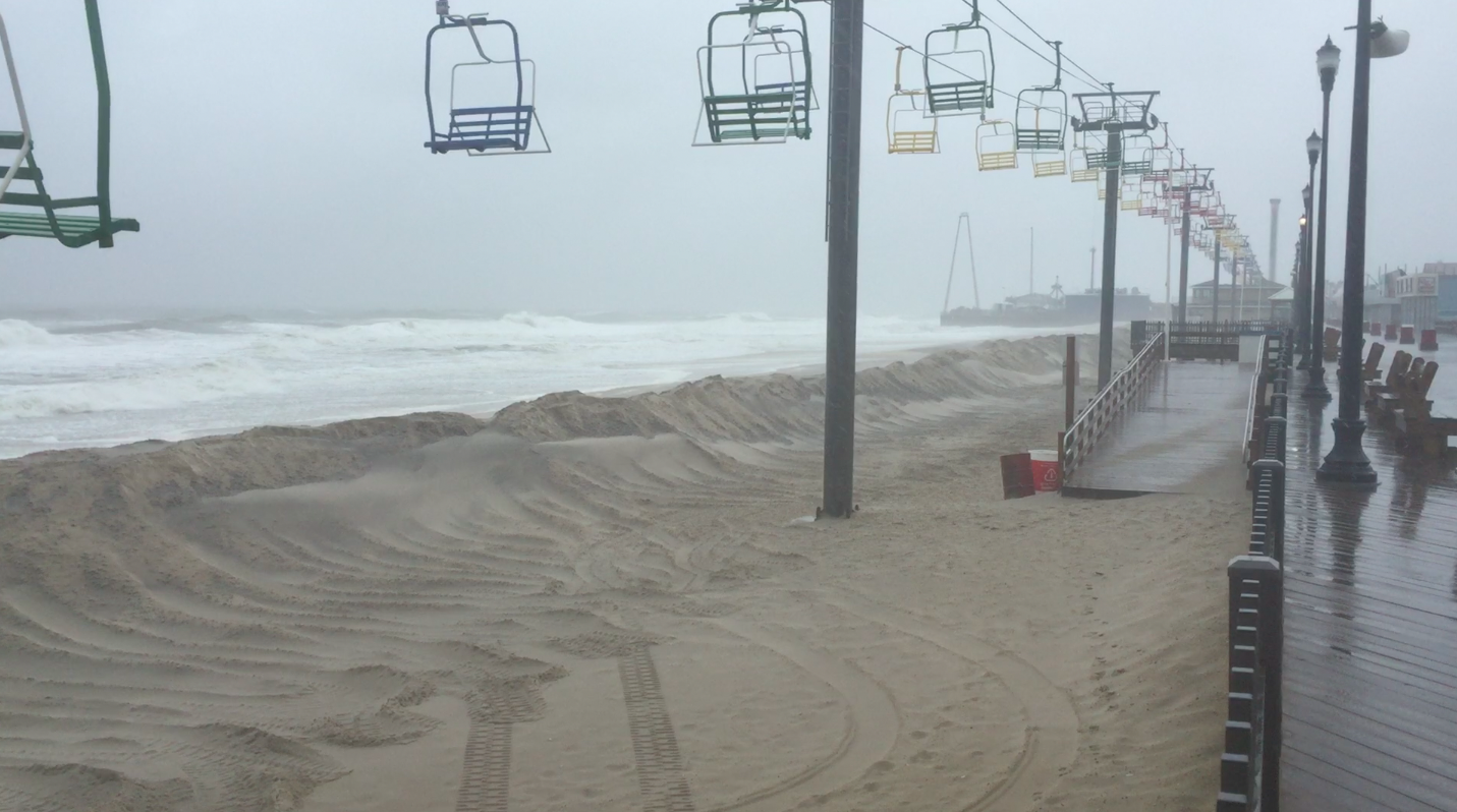 A nor'easter and its affect on Seaside Heights, Oct. 2, 2015. (Photo: Daniel Nee)
