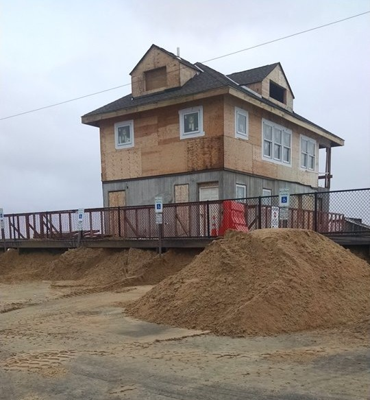 The area of the Block House, where a small breach occurred Saturday in Ortley Beach. (Photo: Toms River OEM)