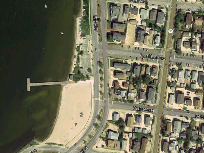A portion of Bay Boulevard in Lavallette. (Credit: Google Maps)