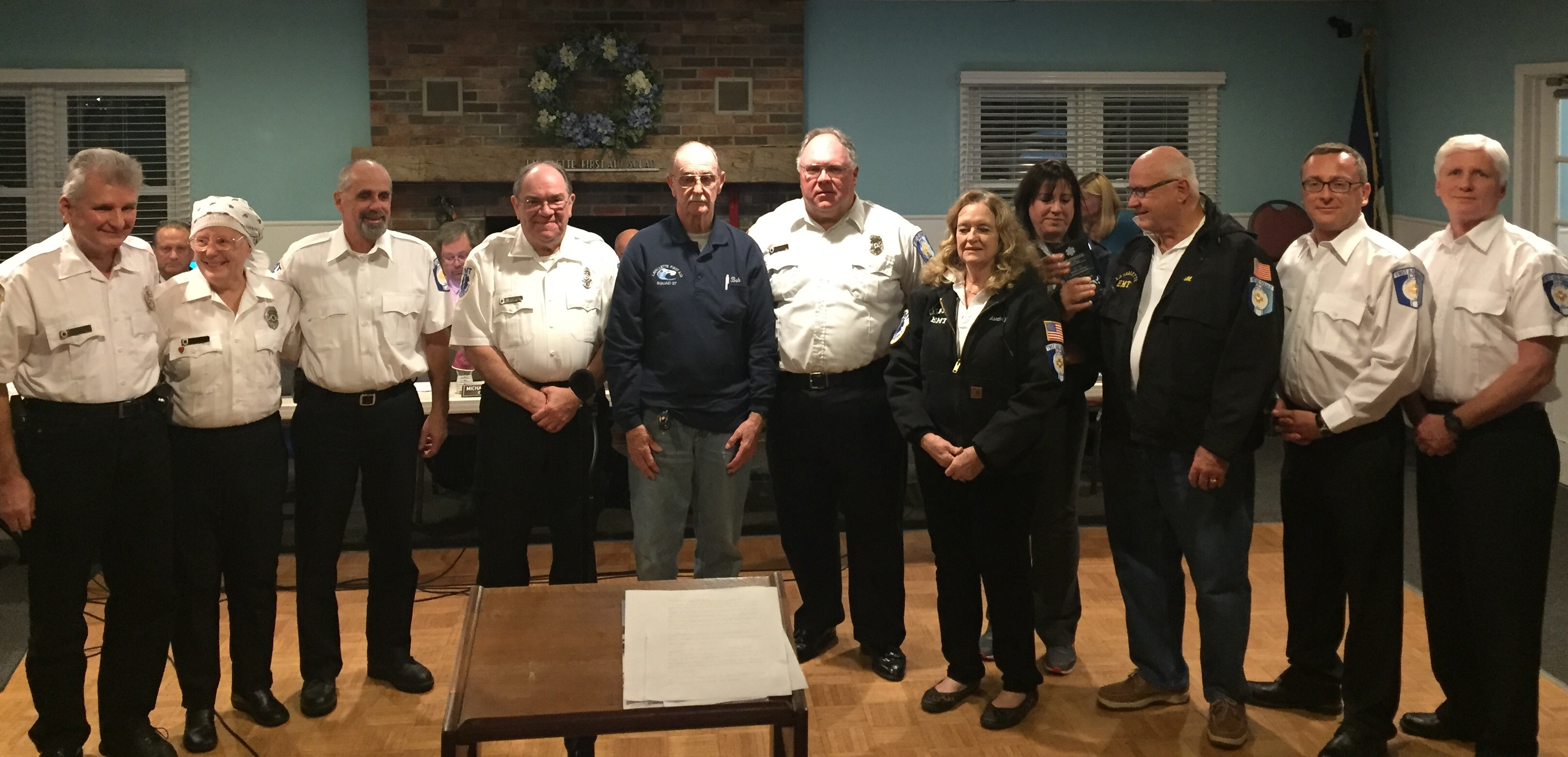 Members of the Lavallette First Aid Squad pose after receiving NJ's Outstanding Agency award. (Photo: Daniel Nee)