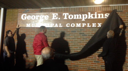 George E. Tompkins Sign Unveiling, Seaside Heights. (File Photo)