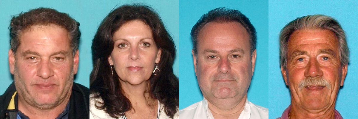 Anthony Cortese (from left), Laura Cortese, Patrick Dori and Robert Scott. (Photos: NJ Attorney General)