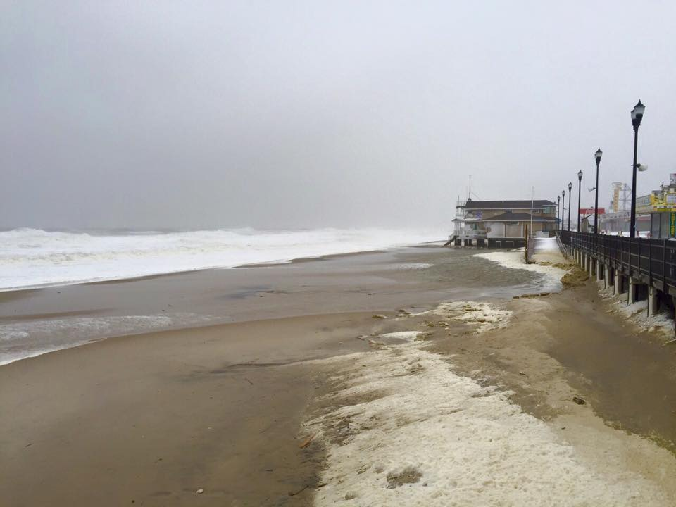 The Seaside Heights beachfront, Jan. 23, 2016. (Photo Credit: Jean L. Coccaro/Seaside Heights Board/Facebook)