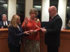 Councilwoman Joanne Filippone is sworn into office, Jan. 4, 2016. (Photo: Daniel Nee)
