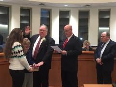 Councilman James G. Borowski is sworn into office, Jan. 4, 2016. (Photo: Daniel Nee)