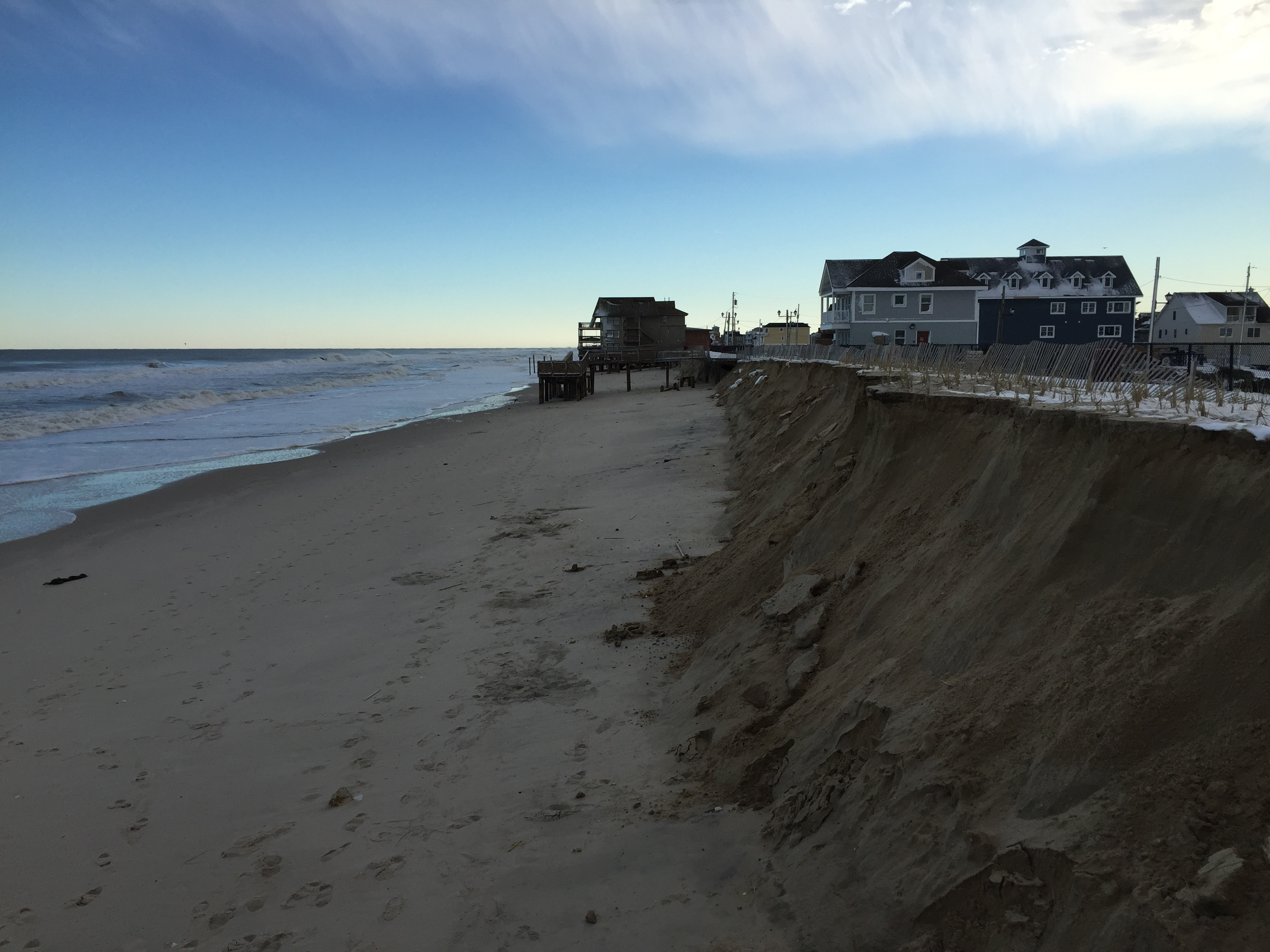 Damage to the oceanfront area of Ortley Beach, N.J., Jan. 24, 2016. (Photo: Daniel Nee)