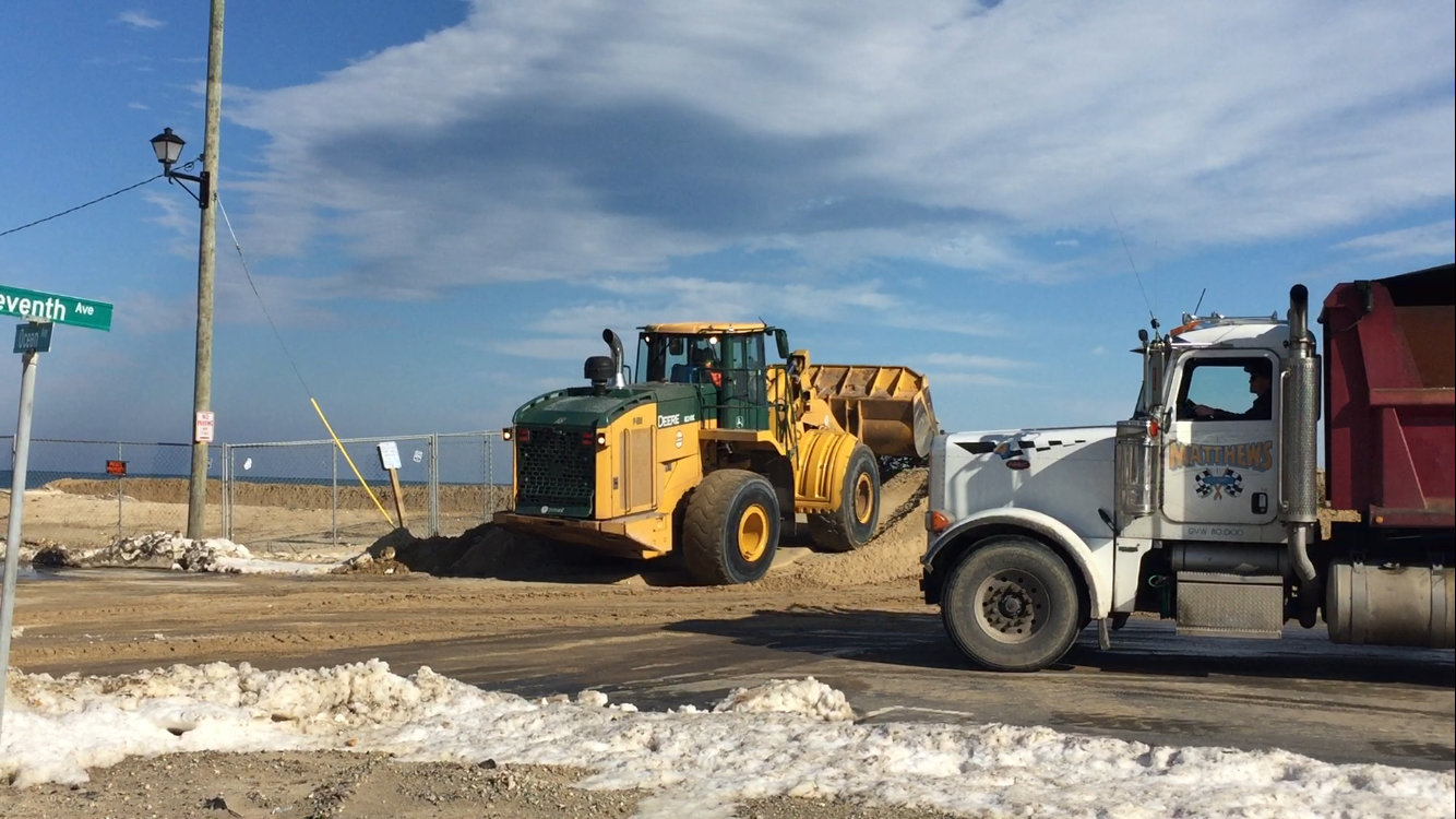 Sand deliveries after the Jan. 2016 nor'easter in Ortley Beach. (Photo: Daniel Nee)