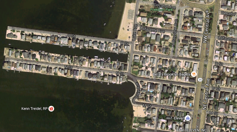 N Street and O Street, Seaside Park. (Credit: Google Maps)