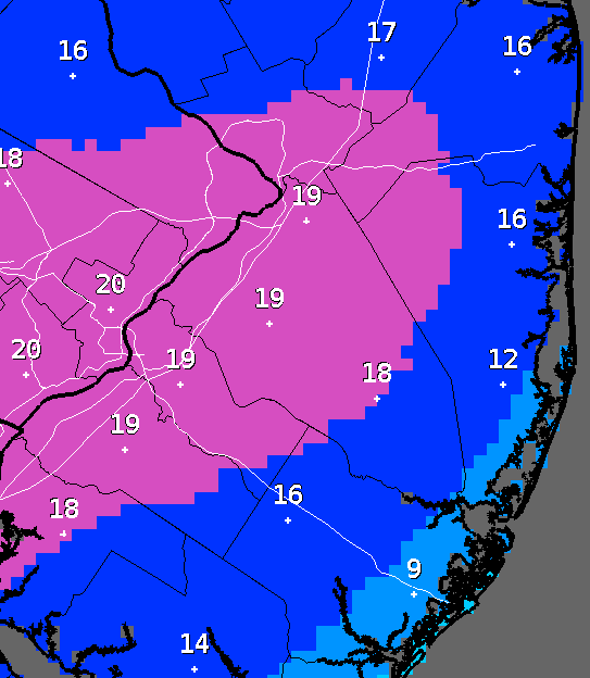Snow total forecast as of late Friday, Jan. 22, 2016. (Credit: NWS)
