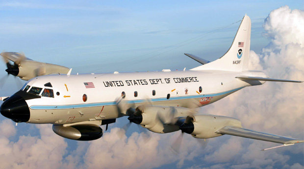 Hurricane Hunter aircraft. (Credit: NOAA)