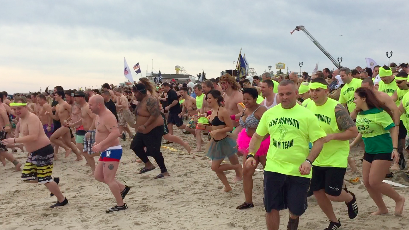 Plungers get ready to head into the water in Seaside Heights for the 2016 Polar Plunge. (Photo: Daniel Nee)