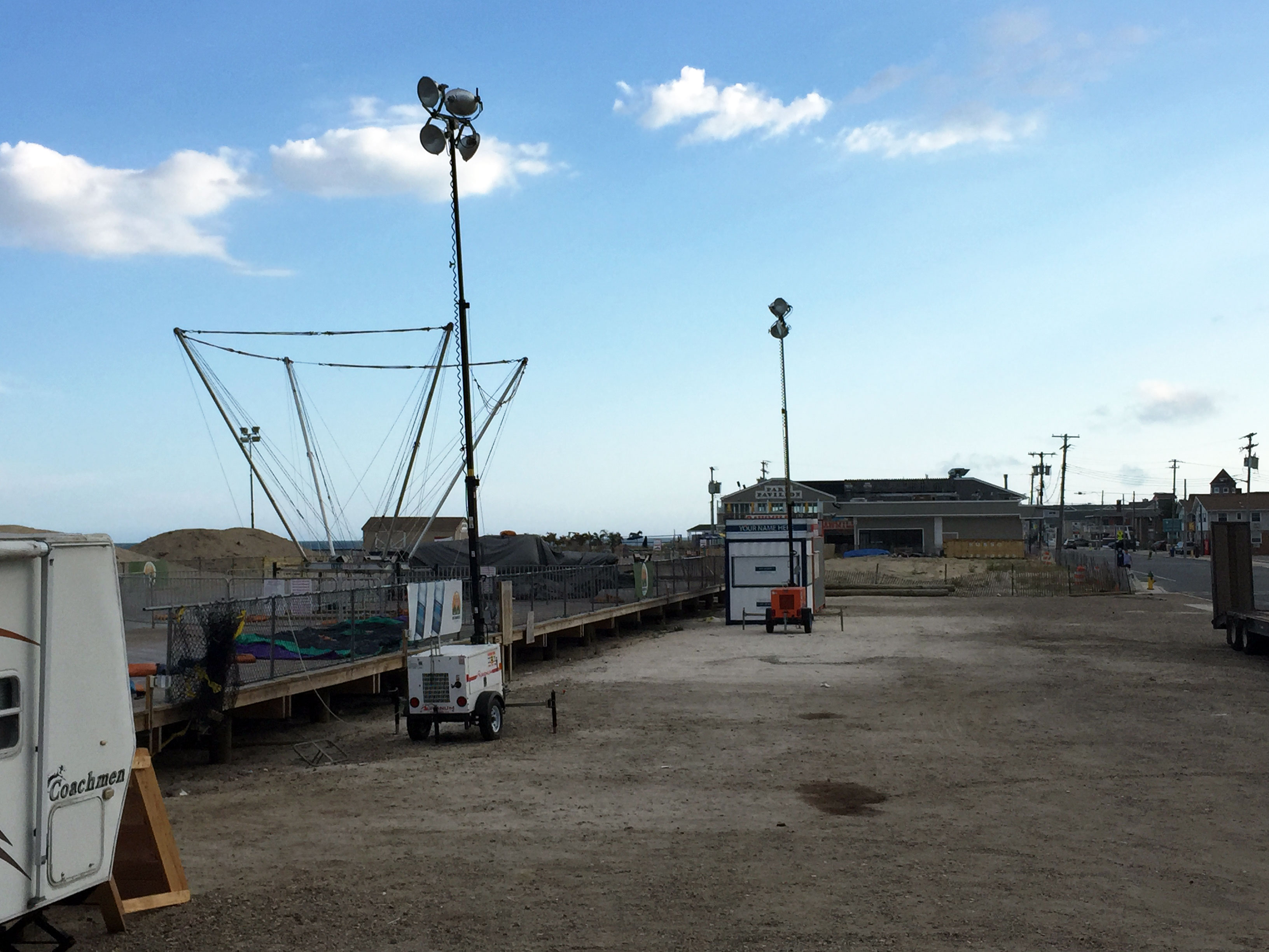 The Seaside Heights boardwalk, Sept. 2015, as temporary rides at DuPont Avenue were being removed. (Photo: Daniel Nee)