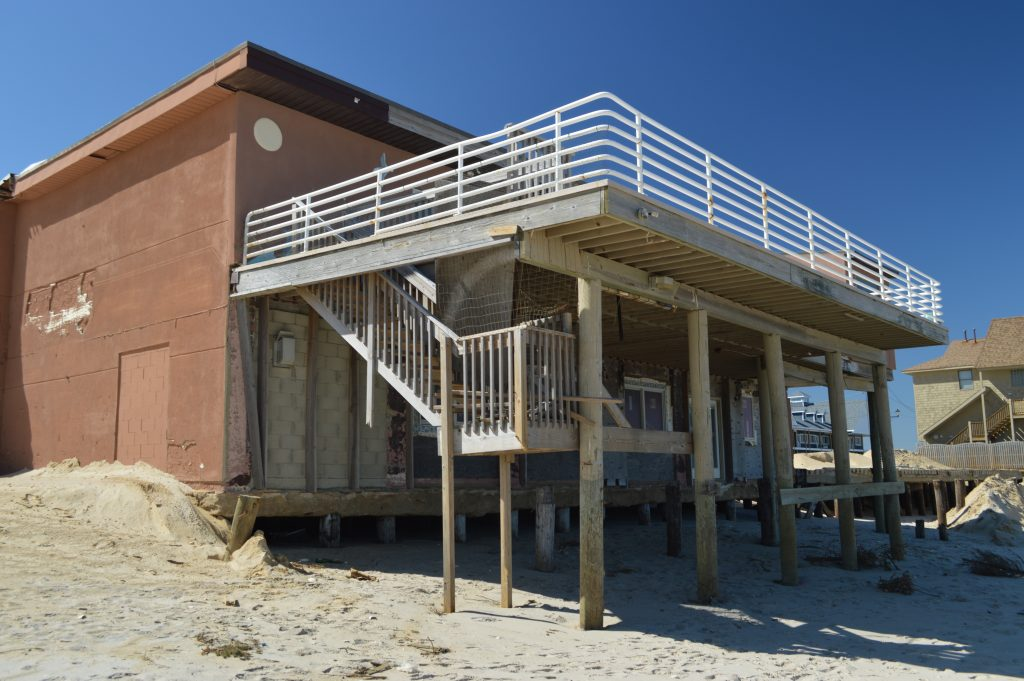 Remnants of the Surf Club in Ortley Beach, destroyed in Superstorm Sandy. (Photo: Daniel Nee)