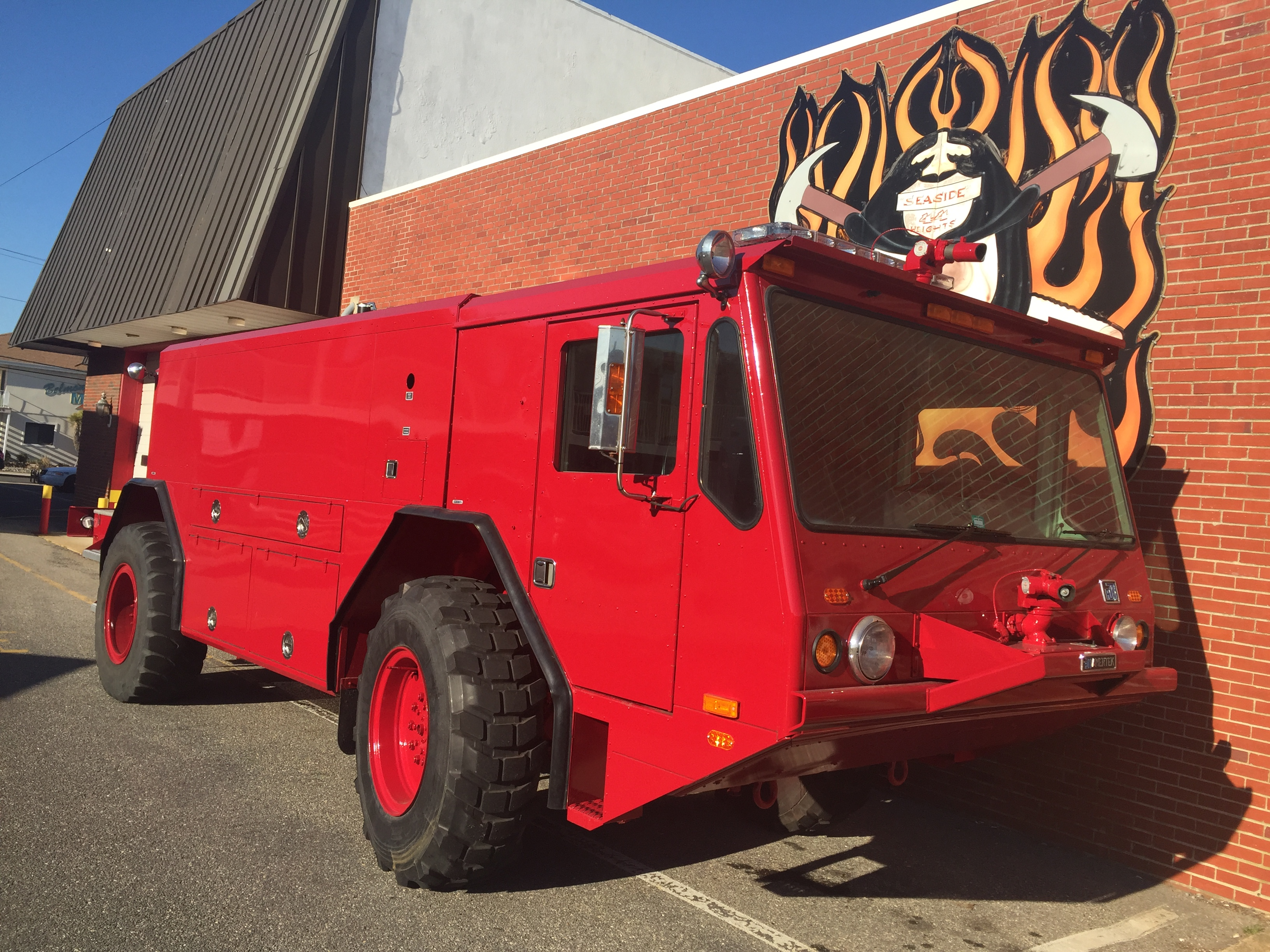 A Seaside Heights fire truck capable of fighting fires from the beach. (Photo: Daniel Nee)