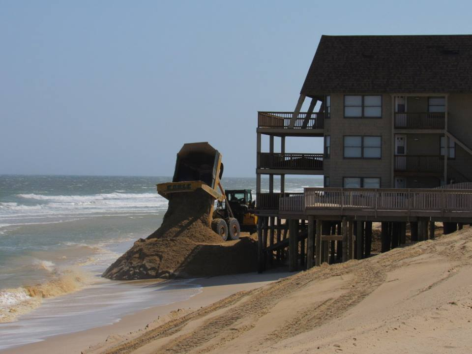 Sand deliveries in Ortley Beach, April 2016. (Photo: Toms River Twp.)