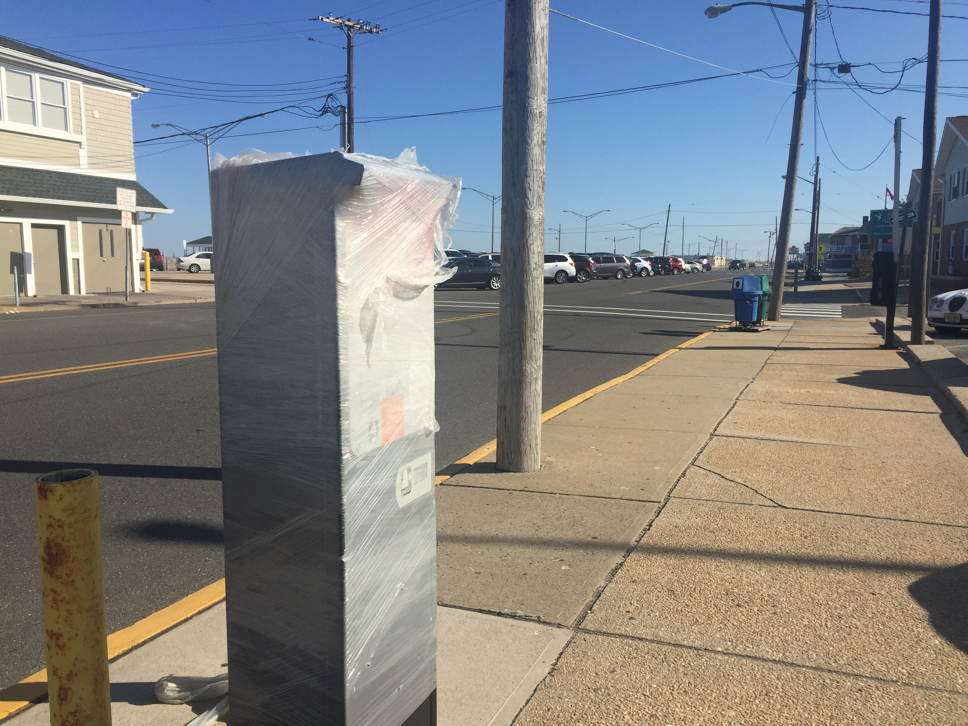 A parking kiosk near Stockton Avenue in Seaside Park. (Photo: Daniel Nee)