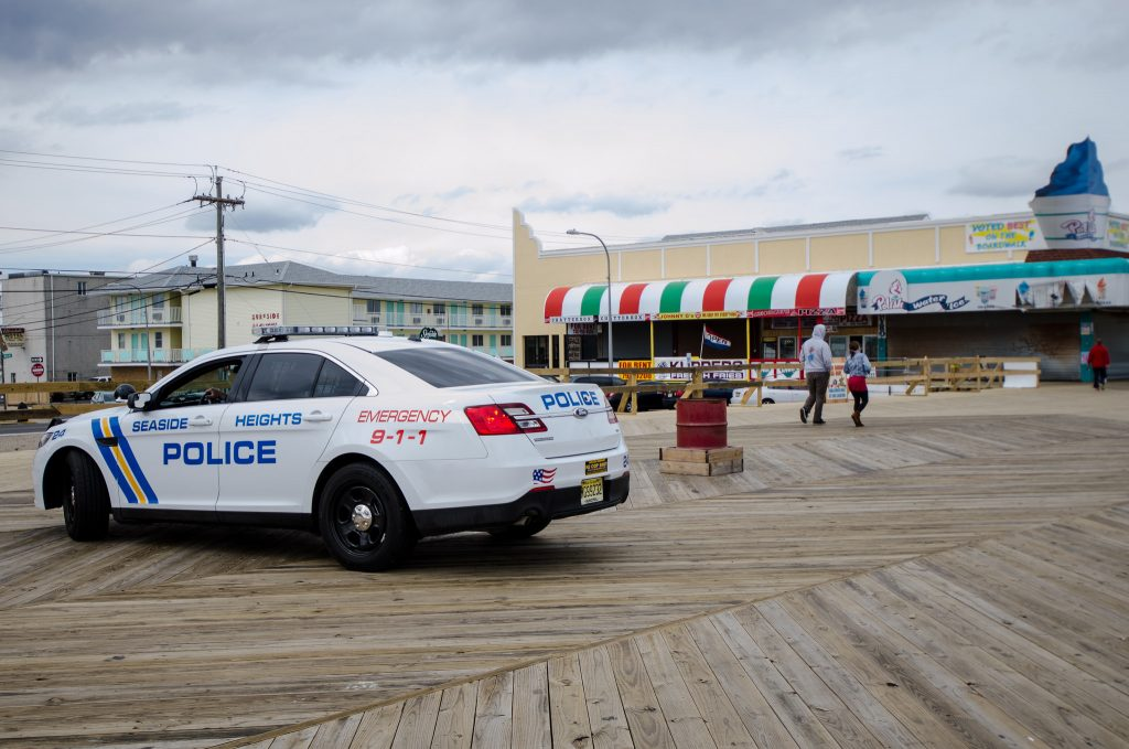 Seaside Heights Police vehicle on the boardwalk. (File Photo)