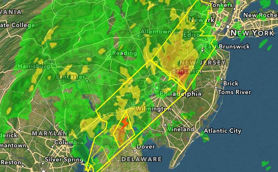 A radar image early Monday morning. (Credit: Hi-Def Radar)