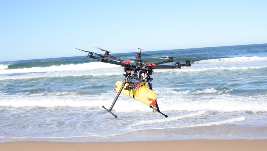 A drone being used on a beach. (Credit: Bay Post/Australia)