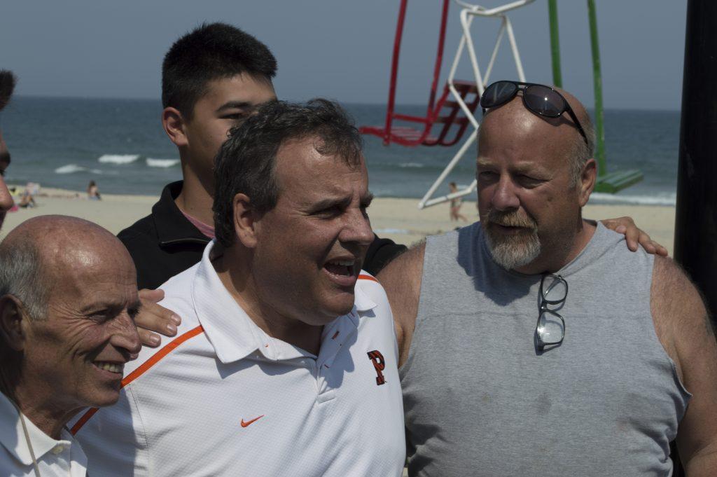 Gov. Chris Christie and Seaside Heights Mayor Anthony Vaz. (Photo: Daniel Nee)