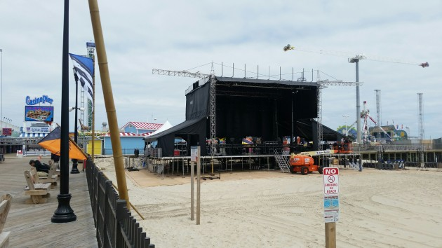 Seaside Heights boardwalk stage. (File Photo)