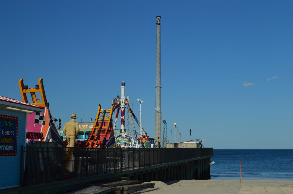 The Grant Avenue beach in Seaside Heights, the location of the Grant Avenue beach stage. (Photo: Daniel Nee)