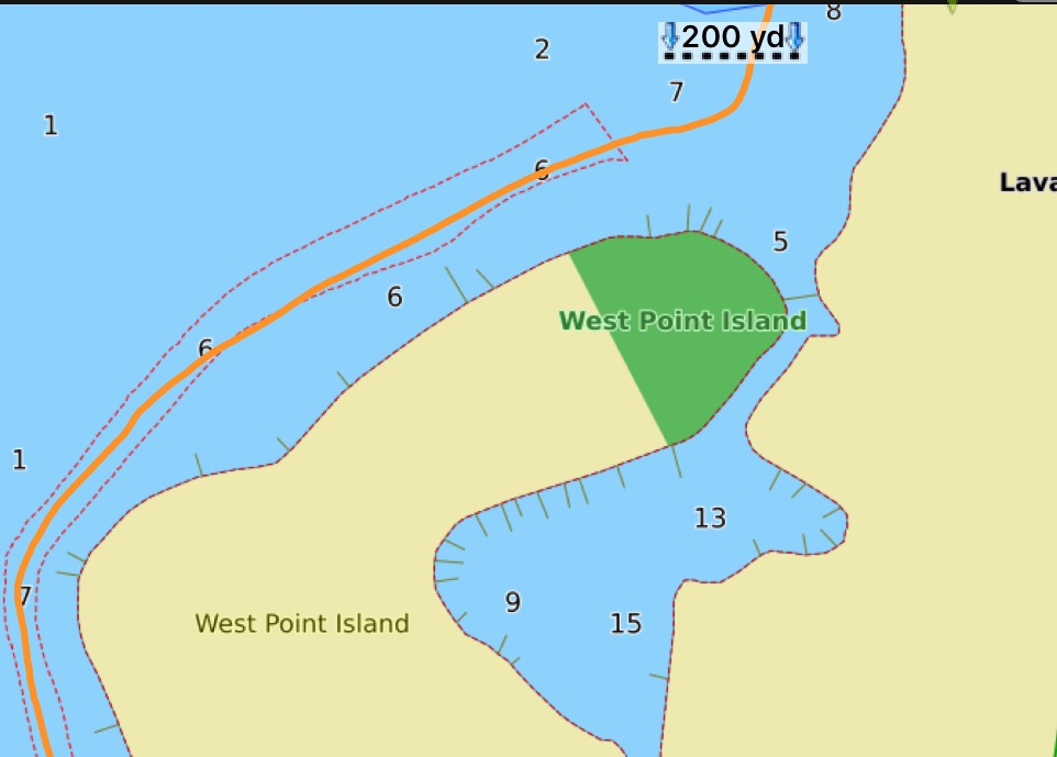A nautical chart showing the area of the West Point Island bridge in Lavallette. (File)