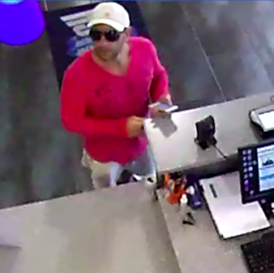 The suspect in a robbery at a gym in Toms River. (Photo: TRPD)