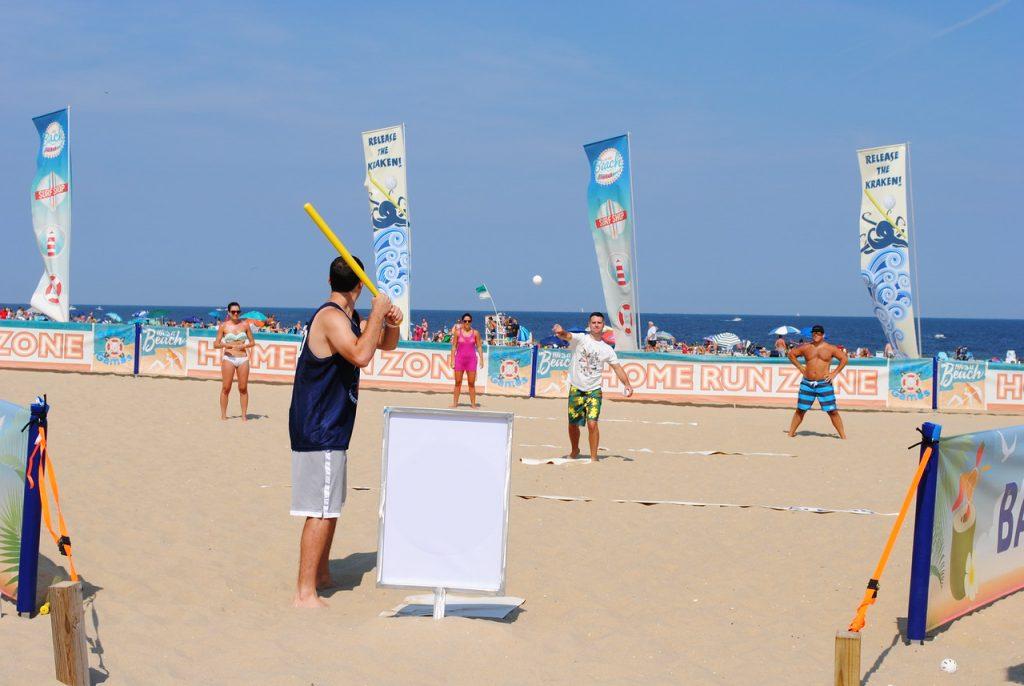 Beach baseball. (Photo: Beach Games USA)