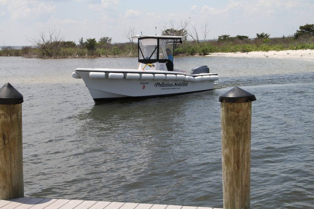 The Pollution Solution pumpout boat, based in Seaside Park. (Photo: Ocean County)