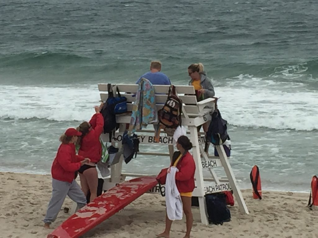 Lifeguards in Ortley Beach, June 2016. (Photo: Daniel Nee)
