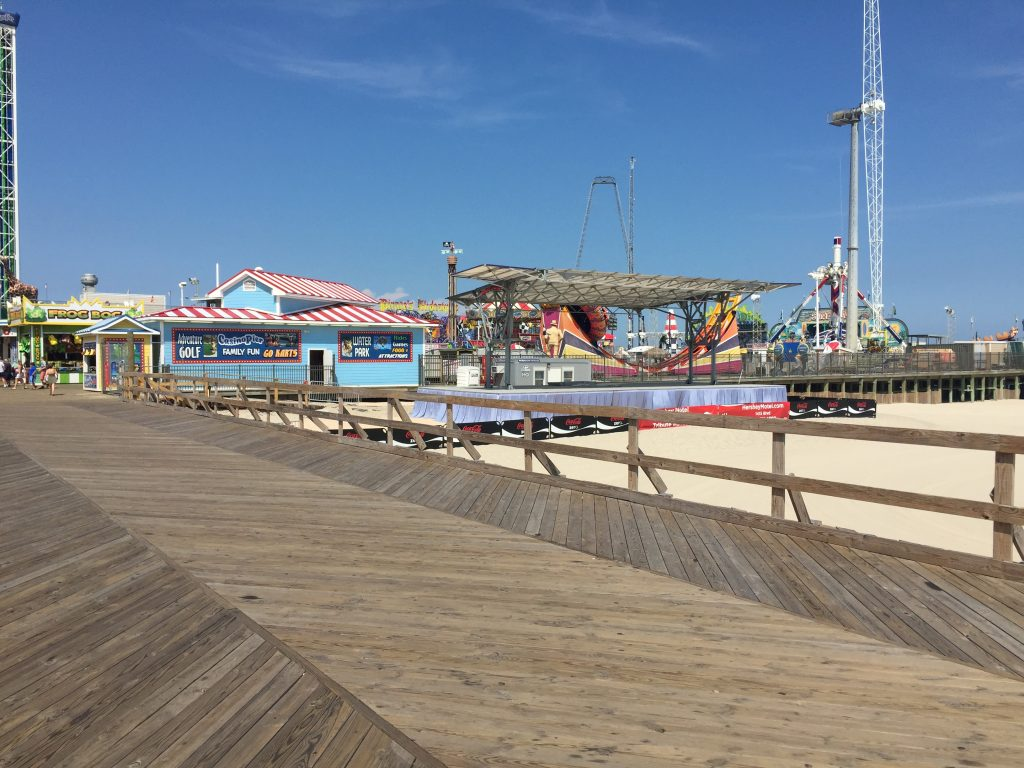 The former site of the Sand Castle in Seaside Heights. (Photo: Daniel Nee)
