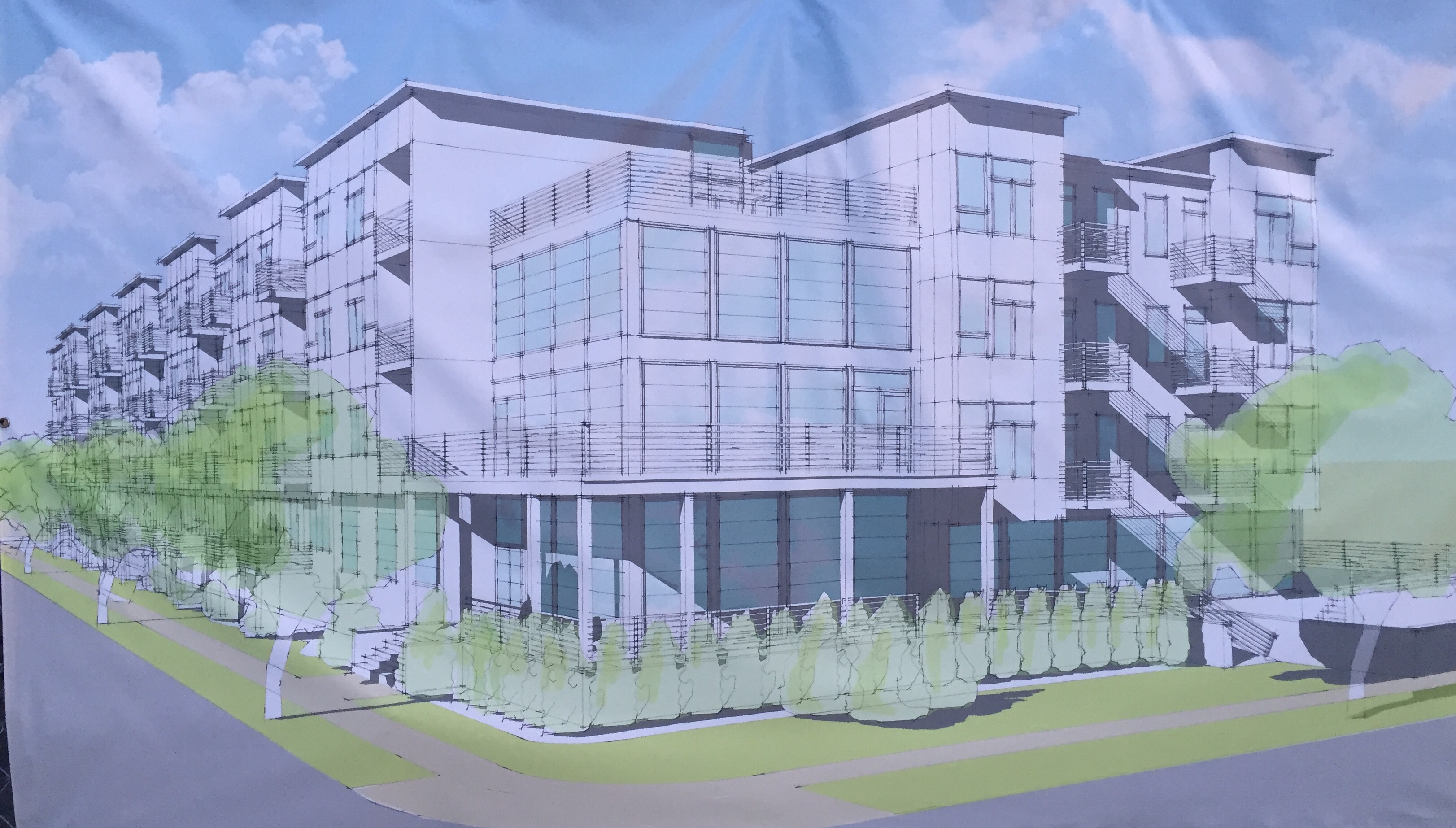 A rendering of the future Seaside Senior Apartments, planned for bay Boulevard in Seaside Heights. (Photo: Daniel Nee)