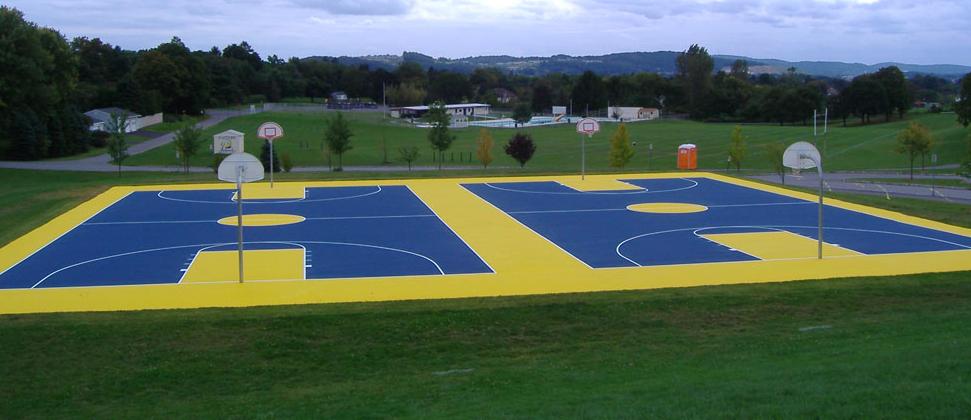 A basketball court built by Halecon Inc., of Bridgewater. (Photo: Halecon)