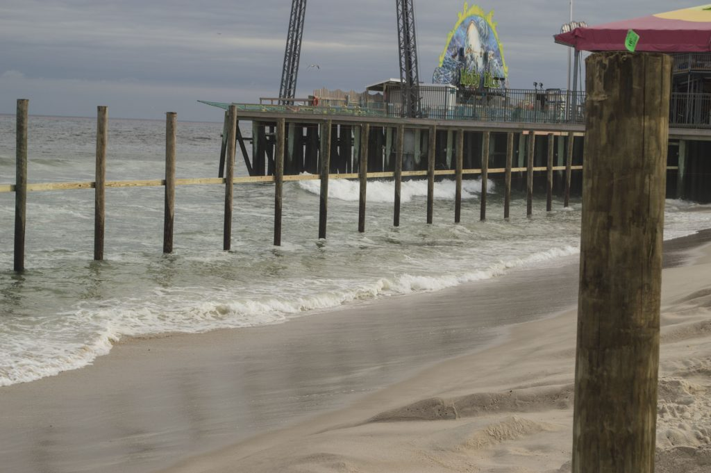 Construction on the expansion of Casino Pier begins in Seaside Heights, Sept. 27, 2016. (Photo: Daniel Nee)