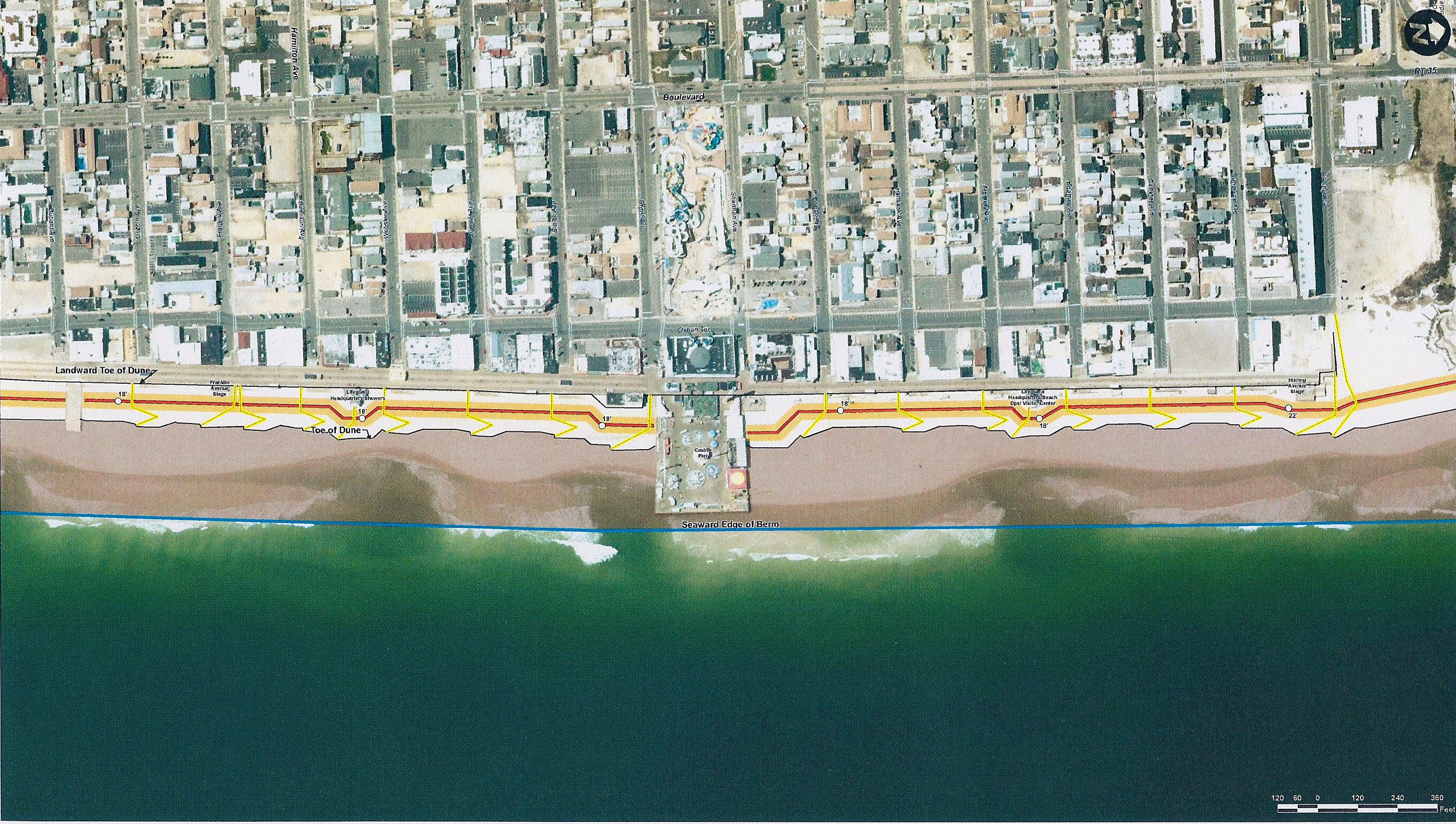 A wide, aerial view of what Seaside Heights beaches may look like after replenishment. (Credit: Borough of Seaside Heights)