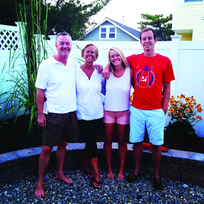 The Daly family, including the late George Daly, left. (Courtesy: The Pitt News)