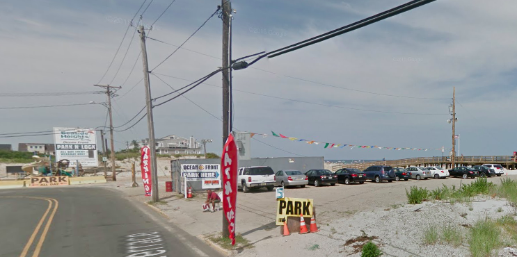 The lot at 1515 Ocean Terrace in Seaside Heights, where condominiums are proposed. (Credit: Google Maps)